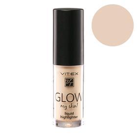 Жидкий хайлайтер для лица Vitex Glow My Skin, тон 13 Gold, 4,9г