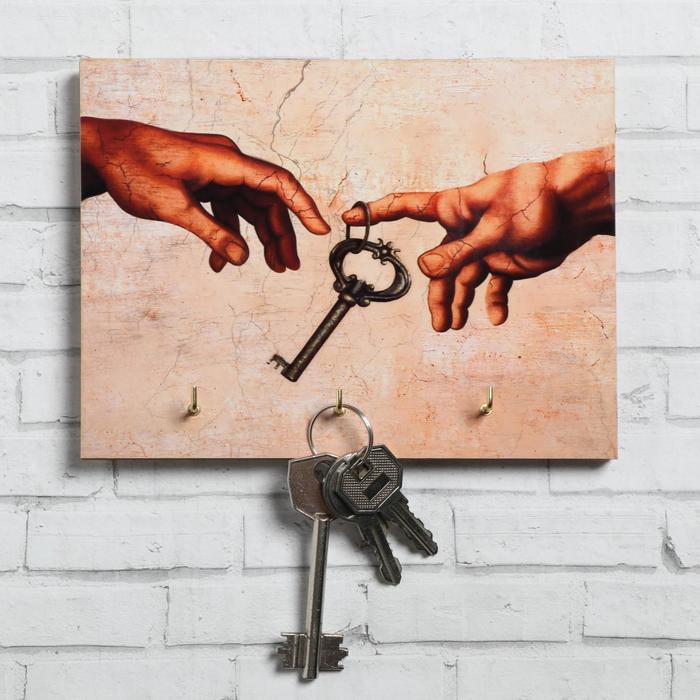 """Ключница """"Руки"""" ключ, 12 х 16 см"""
