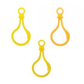 Карабин, набор 4 шт, 5×2.5×0.5 см, цвет оттенки желтого МИКС Ош
