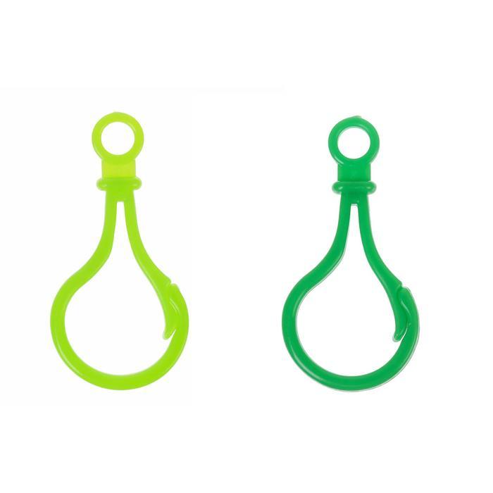 Карабин, набор 4 шт, 5?2.5?0.5 см, цвет оттенки зеленого МИКС