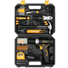 Дрель-шуруповерт DEKO GCD12DU3 и набор инструментов DEKO, 12 В, 1.5 Ah, 104 предмета