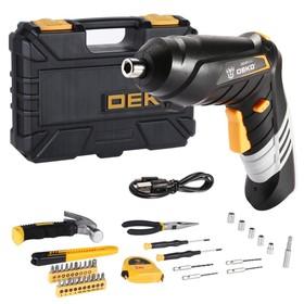 Отвертка аккумуляторная DEKO DKS4FU-Li, 220 об/мин, 4 В, Li-lon, реверс, 36 предметов, кейс   525954