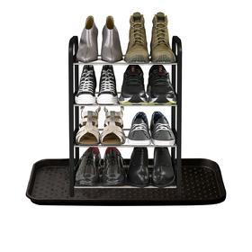 Полка для обуви с лотком, 4 яруса Ош