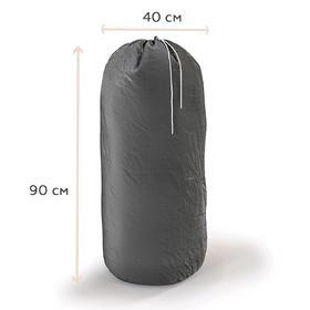 Сумка-мешок для стирки белья большой, цвет серый