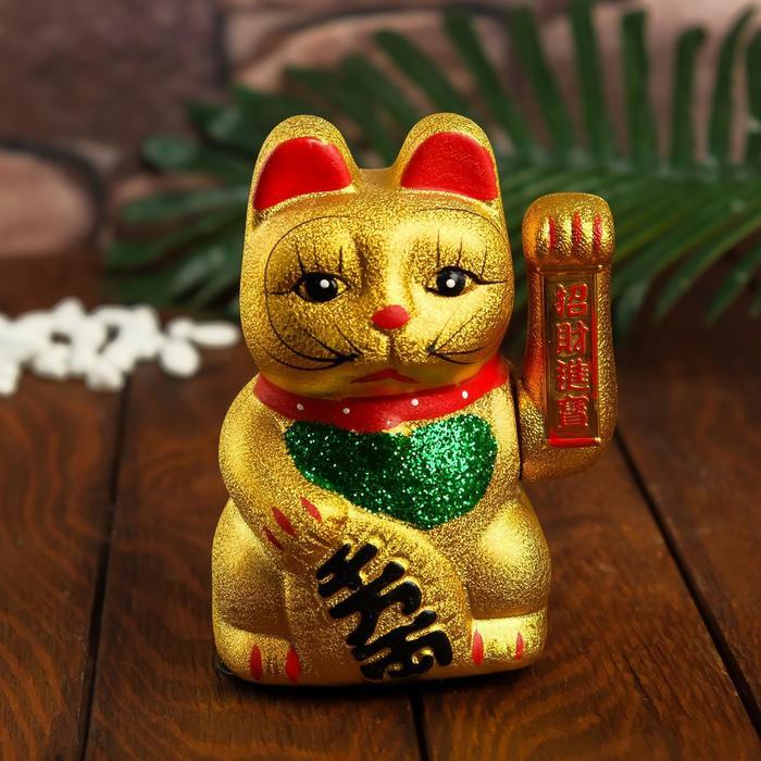 купить Сувенир Кот Манэки-нэко, цвет золото