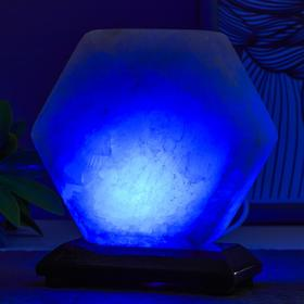 Соляной светильник  'Гайка' LED (диод цветной) USB белая соль 10х7х10 см Ош