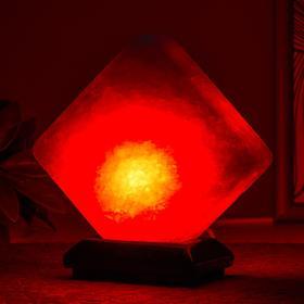 Соляной светильник  'Кубик' LED (диод цветной) USB белая соль 10х9х7 см Ош