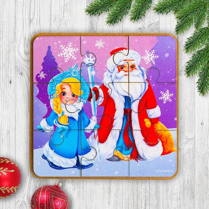 Пазл Дед Мороз и Снегурочка