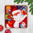 Игрушка из дерева для детей. Пазл «Друзья Деда Мороза» - Фото 1