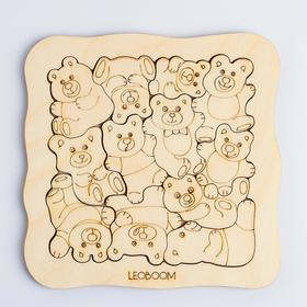 Пазл-раскраска «Мишки - малышки»