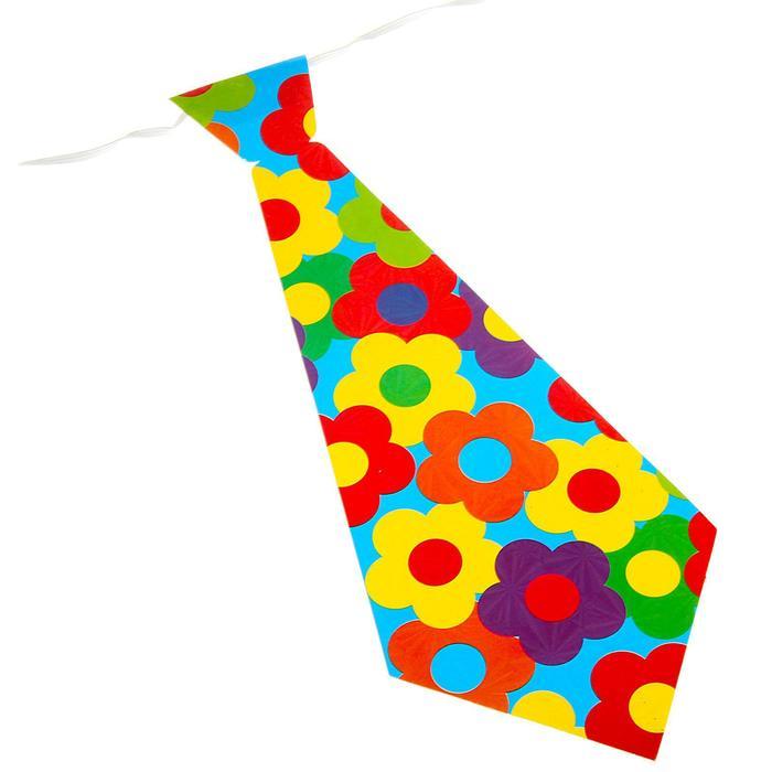 Карнавальный галстук Цветы, набор 6 шт., виды МИКС