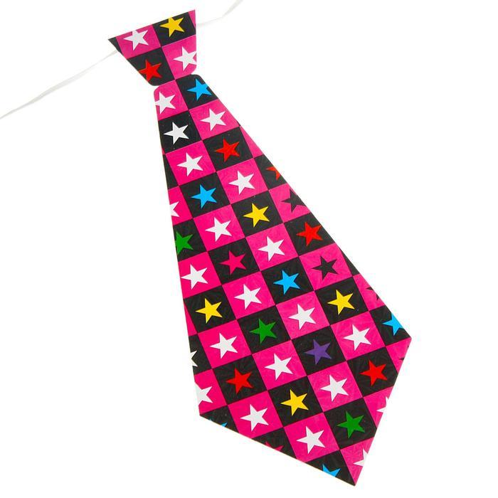 Карнавальный галстук Звёзды, набор 6 шт., виды МИКС