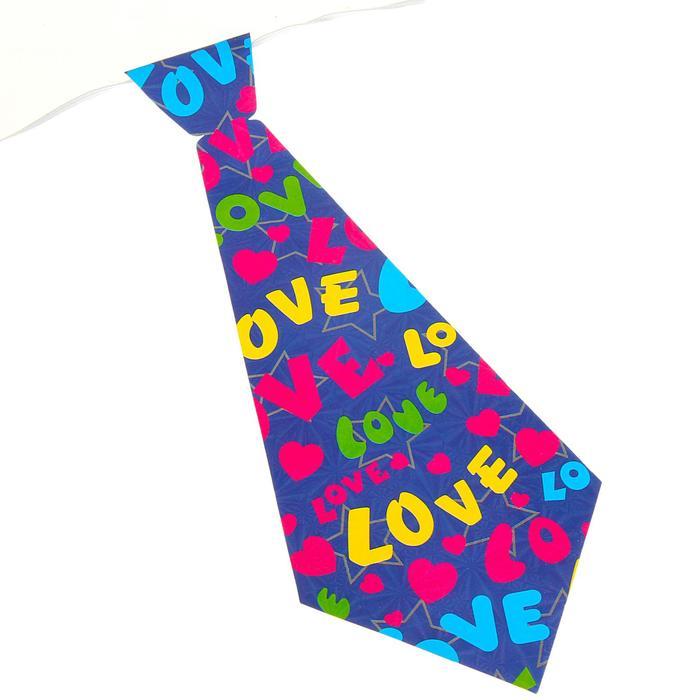 Карнавальный галстук Сердца, набор 6 шт., виды МИКС
