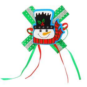 Карнавальный зажим «Снеговик», с бантиком, виды МИКС Ош