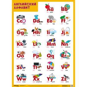 Развивающие плакаты. Английский алфавит, Нафиков Р. М.