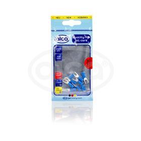 Наконечник плоские вилочные для подключения кабелей синий 4,3мм 10 шт ALCA Ош