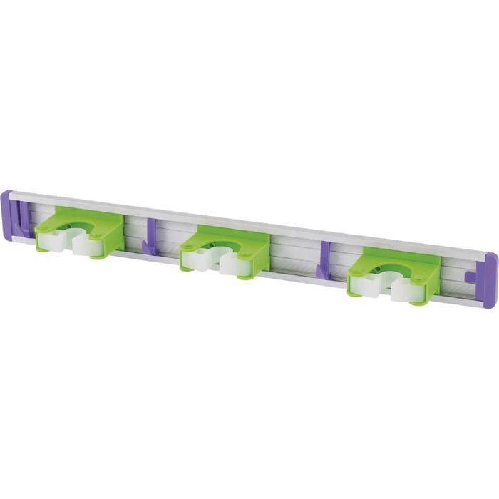 Алюминиевый настенный держатель для садово-огородного инструмента, 3 ячейки, 3 крюка// Palisad  526