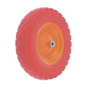 Колесо полиуретановое 4.80/4-8, длина оси 90мм, подшипник 20мм//Palisad Ош