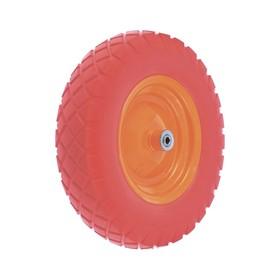 Колесо полиуретановое 4.80/4-8, длина оси 90мм, подшипник 12мм//Palisad Ош