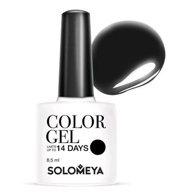 Гель-лак Solomeya Color Gel, тон Super Black