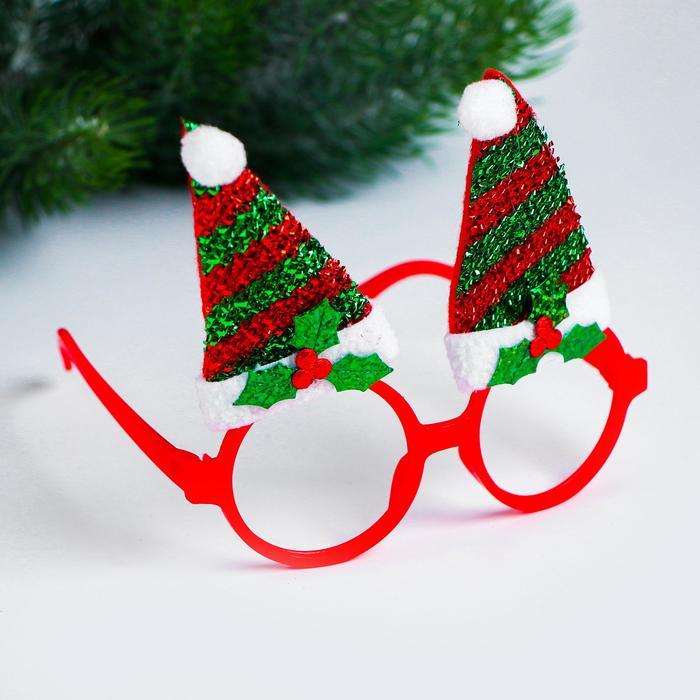 Карнавальные очки Колпачки, цвета МИКС