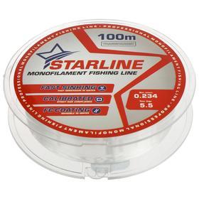 Монофильная леска STARLINE 100 м (transparent) d=0,234 мм
