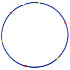 Обруч гимнастический с массажными шариками, стальной, d=90 см, 900 г, цвета МИКС