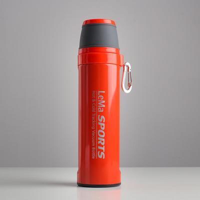 """Термос """"Спорт"""", 500 мл, сохраняет тепло 10 ч,  6.7х25.8 см, красный"""