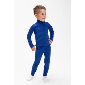 Комплект (водолазка,кальсоны) для мальчика термо, цвет тёмно-синий, рост 98 см (28)