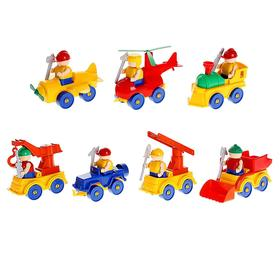 Конструктор для малышей «Машина-паровоз», цвета МИКС