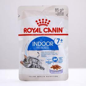Влажный корм RC Indoor 7+ для домашних кошек старше 7 лет, в желе, пауч, 85 г