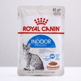 Влажный корм RC Indoor для домашних кошек, в соусе, пауч, 85 г