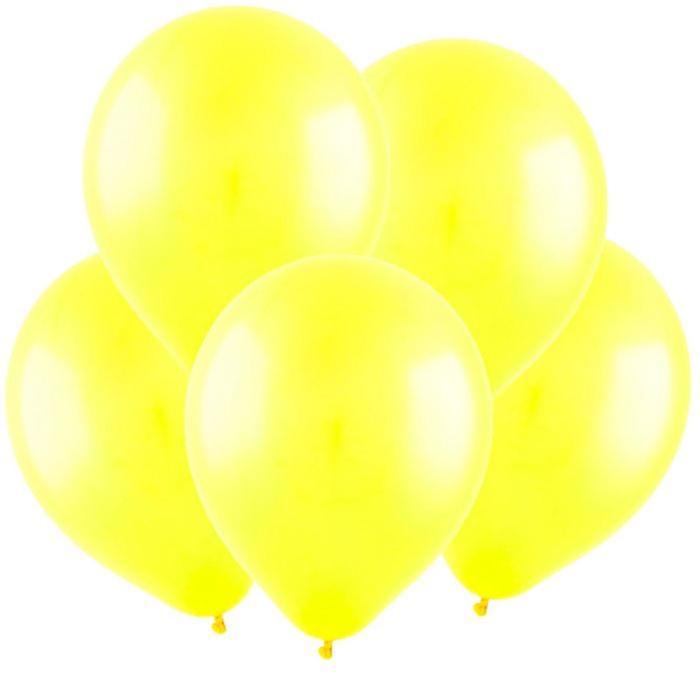 Шар латексный 5, водные бомбочки, пастель, набор 100 шт., цвет жёлтый