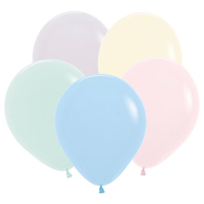 Шар латексный 5, водные бомбочки, пастель, набор 100 шт., цвет макаронс, МИКС