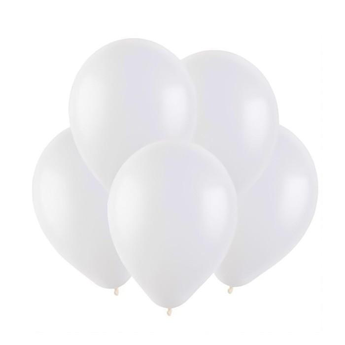 Шар латексный 5, водные бомбочки, пастель, набор 100 шт., цвет белый