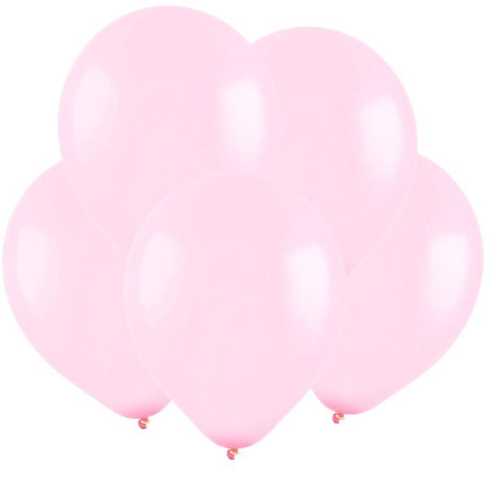 Шар латексный 5, водные бомбочки, пастель, набор 100 шт., цвет светло-розовый