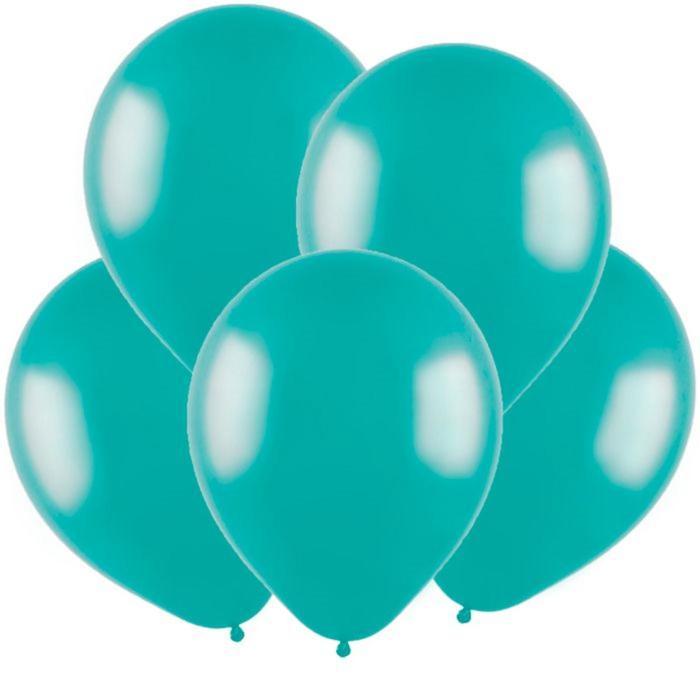 Шар латексный 5, водные бомбочки, пастель, набор 100 шт., цвет бирюзовый