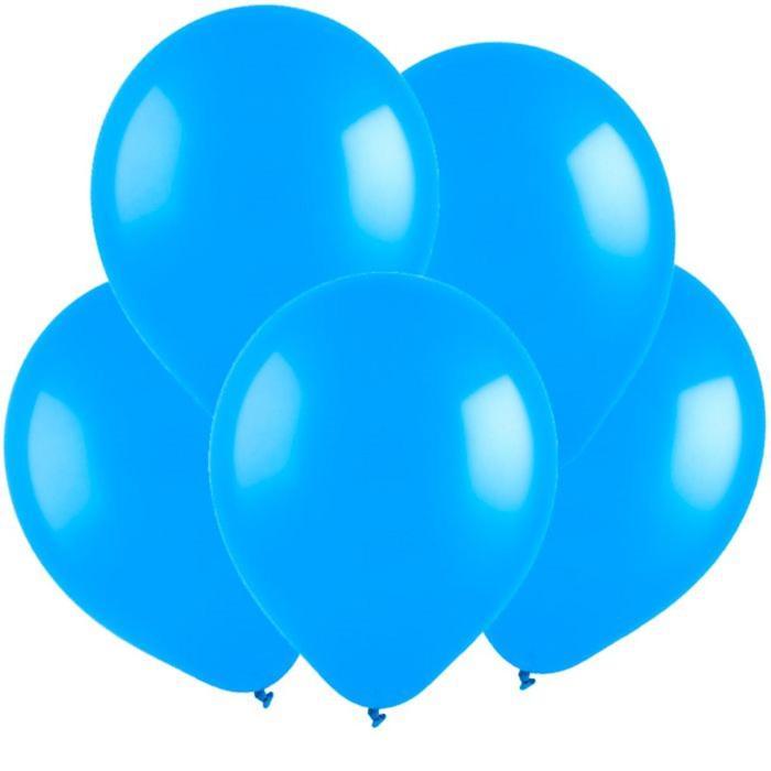 Шар латексный 5, водные бомбочки, пастель, набор 100 шт., цвет голубой