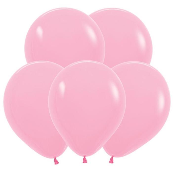 Шар латексный 5, водные бомбочки, пастель, набор 100 шт., цвет розовый