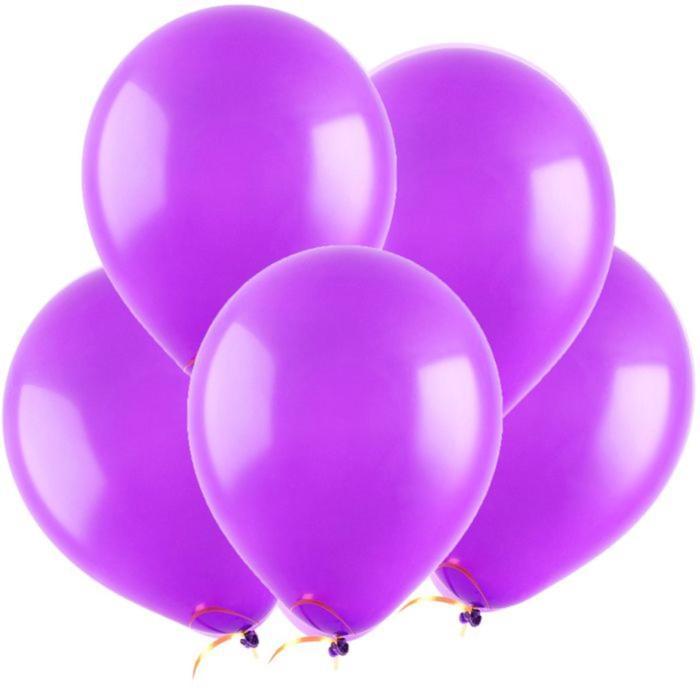 Шар латексный 5, водные бомбочки, пастель, набор 100 шт., цвет фиолетовый