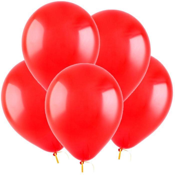 Шар латексный 5, водные бомбочки, пастель, набор 100 шт., цвет красный