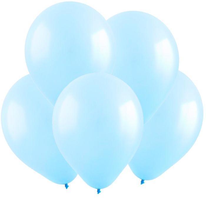Шар латексный 5, водные бомбочки, пастель, набор 100 шт., цвет светло-голубой