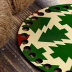 """Заготовка для вязания """"Круг Хвойный лес"""", донышко ДВП, размер 15 см - Фото 2"""