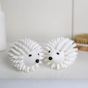 Набор шаров для стирки «Ёжики», 2 шт, цвет белый Ош