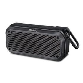 Портативная колонка Sven PS-240 12Вт, FM, AUX, microSD, Bluetooth, 2000мАч, черный