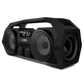 Портативная колонка Sven PS-465 18Вт, FM, AUX, microSD, USB, Bluetooth, 1800мАч, чёрный