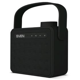 Портативная колонка Sven PS-72 6Вт, FM, AUX, microSD, USB, Bluetooth, 1200мАч, черный