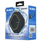 Портативная колонка Sven PS-77 5Вт, FM, AUX, microSD, Bluetooth, 600мАч, черно-зеленый - Фото 6