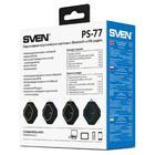 Портативная колонка Sven PS-77 5Вт, FM, AUX, microSD, Bluetooth, 600мАч, черно-зеленый - Фото 7