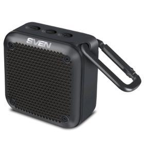 Портативная колонка Sven PS-88 7Вт, FM, AUX, microSD, Bluetooth, 1500мАч, черный